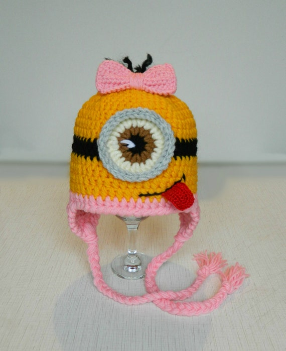Despicable me Minion hat Minion knit hats Baby by UAmadeForYou