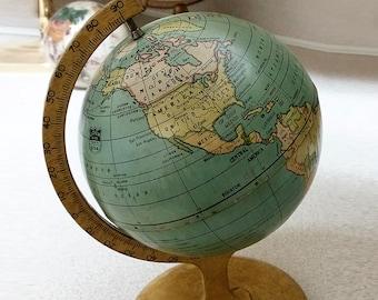 Vintage 1920s  J. Chein & Co. Terrestrial World Globe