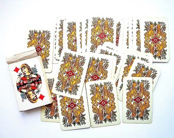 Retro soviet playing cards 1990,  original cards deck USSR