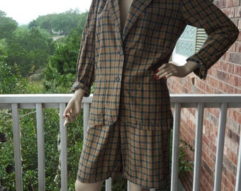 Awesome 80's Calvin Klein Sport Women's High Waisted Short Suit, Sports Jacket, Preppy Shorts