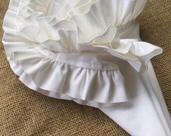 White Ruffled Napkin