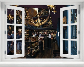 Window with a View Harry Potter Wisacres Wizarding Shop Wall Mural