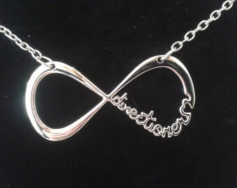 1D infinity directioners necklace with organza gift bag