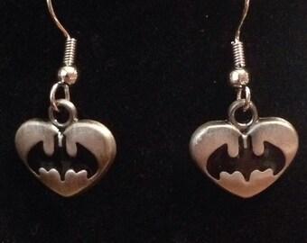 Batman nerd earrings
