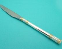 Wallace Golden Aegean Weave Pattern Sterling Silver Dinner Knife 9.25 inch