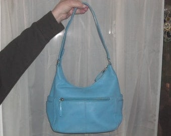 Cool Blue all leather bag