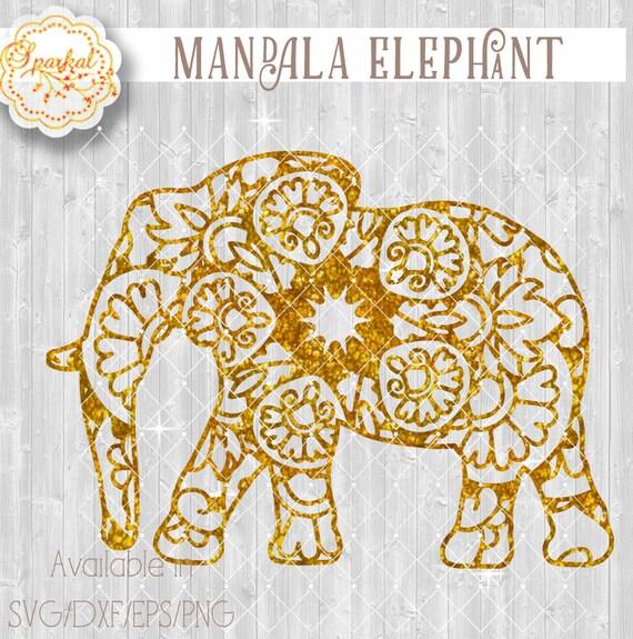 Mandala Elephant SVG Digital Digital Cutting design