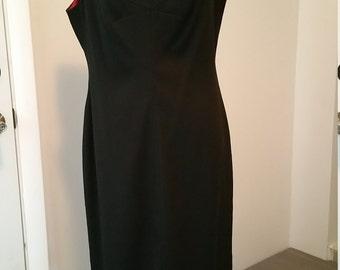 Donna Ricco New York LBD with Beaded V hemline. Size 12