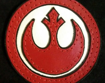 Leather Rebel Alliance Star Wars patch applique vest backpack