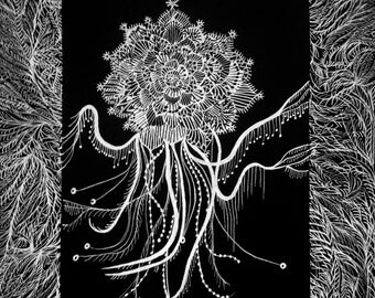 Jelly fish and plant