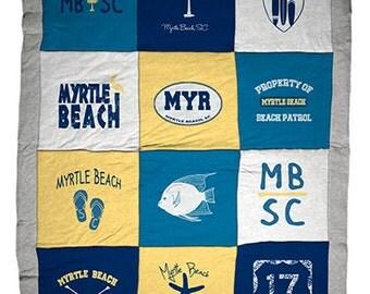 Myrtle Beach SC Destination Blanket