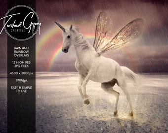 Rain & Rainbows - 12 Enchanting image overlays!