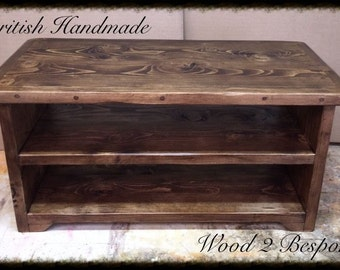 Rustic Hand Made Coffee Table / TV Stand