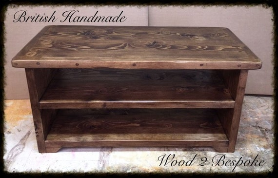 Rustic Hand Made Coffee Table Tv Stand