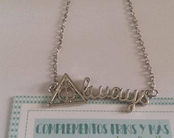 Always Harry Potter Necklace, Hogwarts necklace, Harry Potter Inspired Fandom Necklace, Deathly Hallows Necklace, Platform 9 & 3/4 necklace