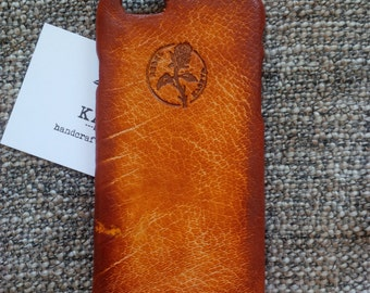 iPhone 6, 6s leather case 'Old Tan'