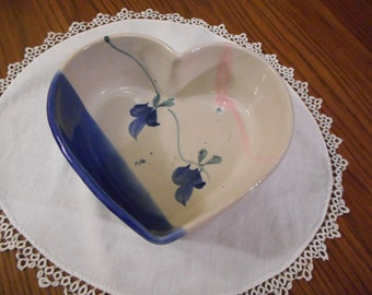 Heart Shaped Stoneware Bowl  - handmade
