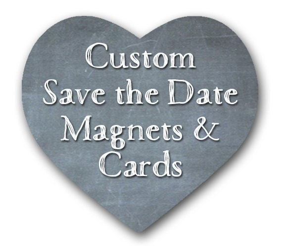 Save The Date Magnets Custom Theme Place By