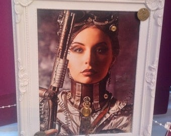 Steampunk embellished picture