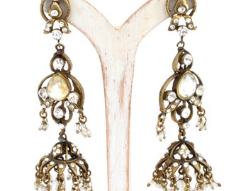 Citrine Victorian Chandelier Earrings