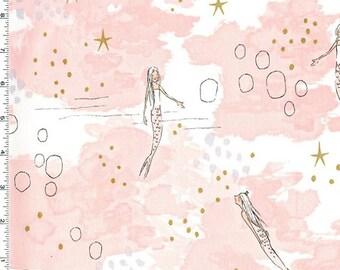 Magic - Mermaid Magic Fabric (Metallic) - Blossom - sold by the 1/2 yard