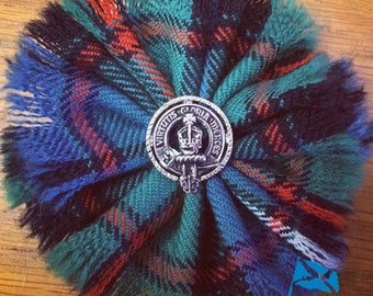 Clan Rosette with Pewter Clan Crest