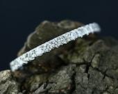 0.36 Carats Diamond Sandy 14k White Gold Diamond Half Eternity Matching Band Promise Ring Wedding Band (Bridal Wedding Set Available)