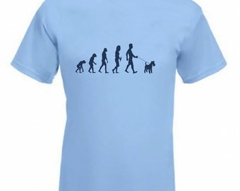 Evolution To Welsh Terrier t-shirt Funny Dog T-shirt in sizes Sm to 2XXL