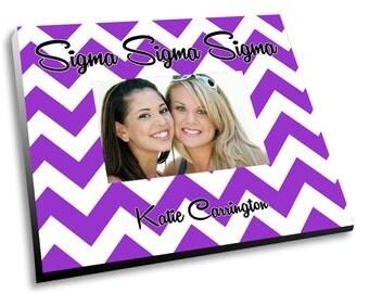 Sigma Sigma Sigma Chevron Picture Frame