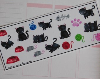 Kitty stickers for planners