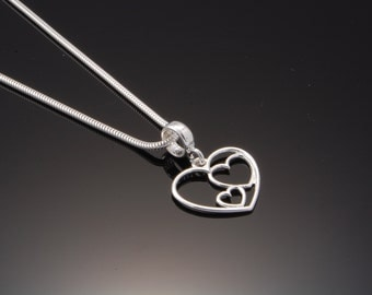 Sterling Silver Heart Necklace | Valentine's Day