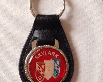 Buick Skylark Keychain Black Leather  Key Chain