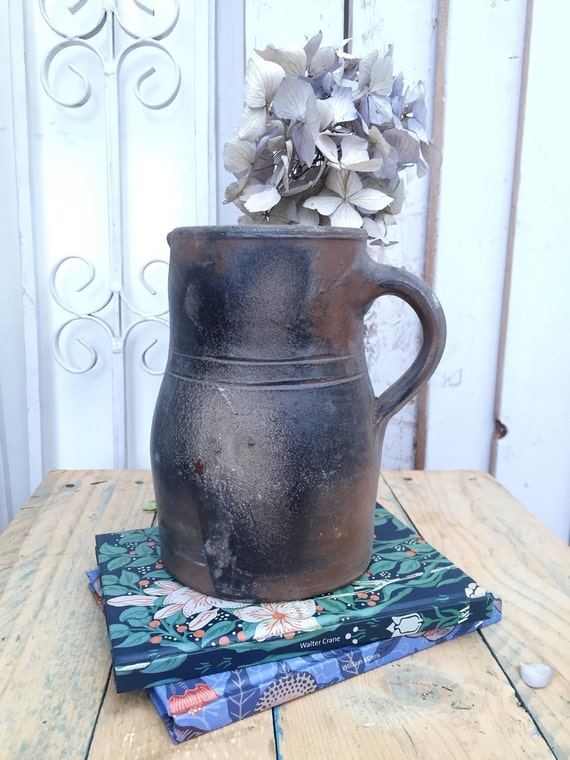 Early 1900s French Pitcher Vintage Vase Jug Carafe French