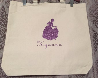 Princess Silhouette Tote Bag
