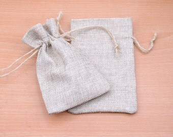 10pcs Natural Hemp Drawstring Bags linen drawstring Bags Pouch Wedding Favor Gift Burlap Packaging Bags Jewelry Party Recycle Bags wholesale