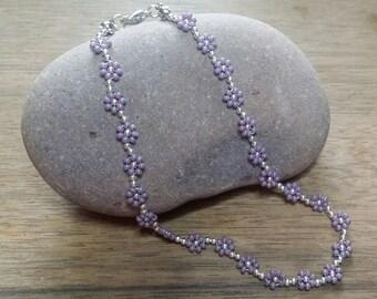 Mauve Daisy Anklet/Ankle Bracelet..Beach,Festival
