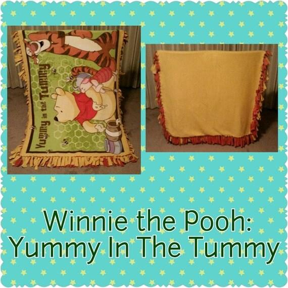 Winnie the Pooh Yummy in my Tummy fleece blanket  Winnie the Pooh...