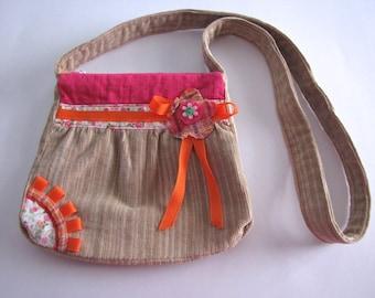 Corduroy bag for girl