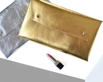 Leather clutch, clutch bags, clutch purse, silver clutch, gold clutch, gold evening bag, silver evening bag, clutch purse, metalic clutch