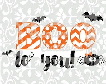 Halloween SVG BOO to You spider for  Silhouette or other craft cutters (.svg/.dxf/.eps)