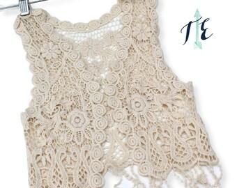 FREE SHIPPING! Child Crochet Vest / Boho Baby / Toddler Crochet Vest / Festival Vest