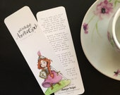 Put on the Full Armor of God Bookmark- Ephesians 6:13-17  Hand lettered Watercolor Warrior Princess