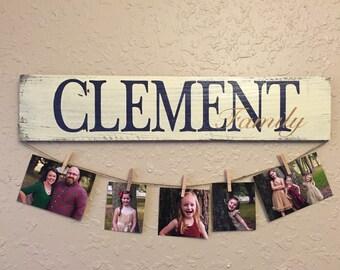 Wedding gift - Personalized wall hanging/photo display