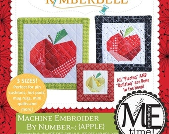 CD Machine Embroider by Number: Apple In the Hoop Machine Embroidery CD by KimberBell KD628