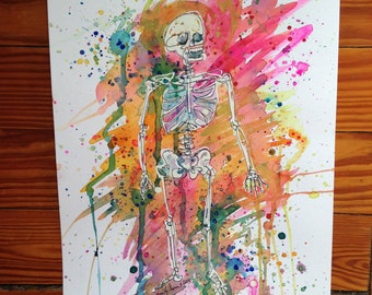 Stardust Skeleton 11x14 PRINT