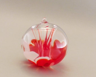 Red and White Witch Ball