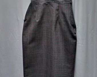 1950's style classic wool high-waisted pencil skirt by Vivien of Holloway 25 inch waist