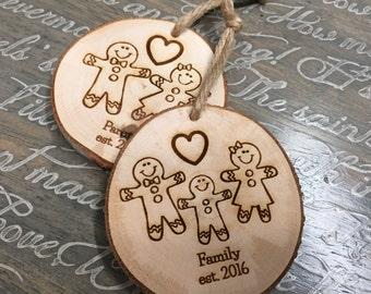 Family Ornaments | Gingerbread Ornaments | Personalized Christmas Ornaments | Christmas Ornaments Personalized | Custom Ornament | Engraved
