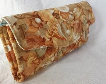 Tan seashell clutch (Maine Made)
