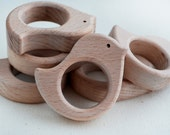 Unfinished Wooden Bird Shape - Wooden Bird Pendant - Unpainted Wood - Bird Teether - Safe for teething - Wooden Toy Bird - Pendant